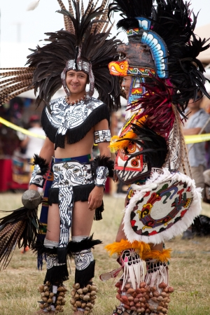 bennett: Aztec dancers at the Pow Wow Native American Festival at Floyd Bennett Field on June 6, 2010 in Brooklyn, NY. Editorial