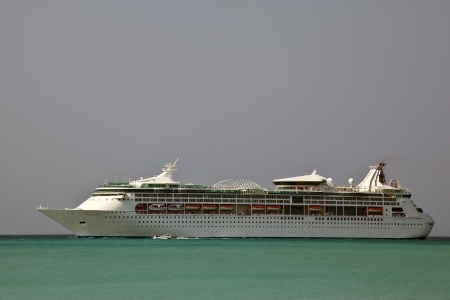 Cruise ship in the Caribbean photo