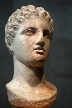 Marble head of a goddess, 4th century BC photo