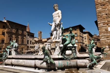 The Fountain of Neptune  1565  by Bartolomeo Ammannati in Florence, Italy