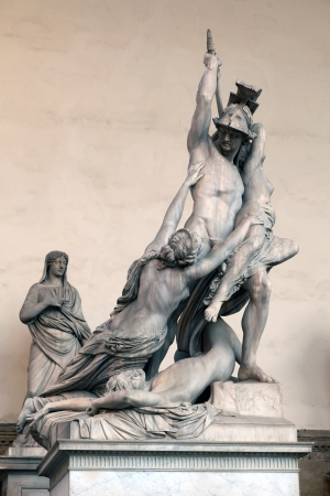 The Rape of Polyxena - sculpture by Pio Fedi  1865