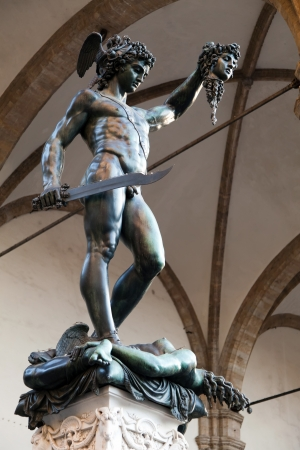 Perseus with the Head of Medusa  by Benvenuto Cellini  1554  photo