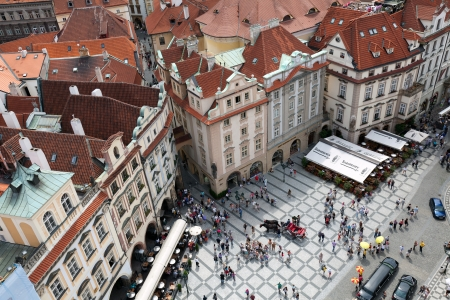 Old Town Square is a historic square in the Old Town quarter of Prague in the Czech Republic