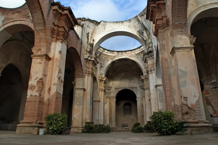 guatemala: Cathedral de Santiago destroyed by an earthquake, Antigua, Guatemala