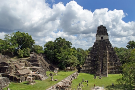 guatemala: Temple of the Great Jaguar is one of the major structures at Tikal, Guatemala Stock Photo