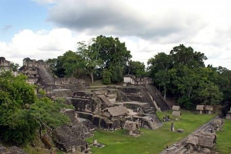 Ancient Mayan ruins in Tikal Guatemala  Stock Photo