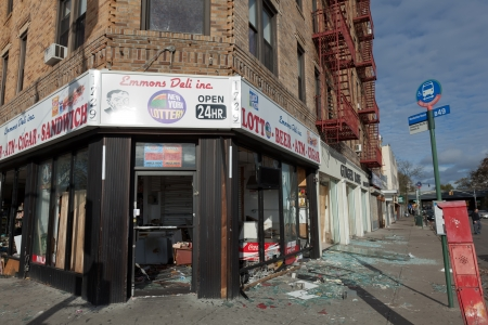 looting: The aftermath of the Superstorm Sandy on October 30, 2012 in the Sheepshead Bay, Brooklyn, New York, USA. Editorial