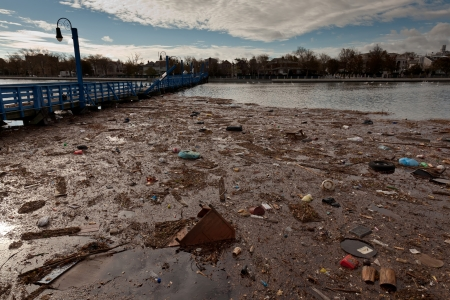 aftermath: The aftermath of the Superstorm Sandy on October 30, 2012 in the Sheepshead Bay, Brooklyn, New York, USA. Editorial