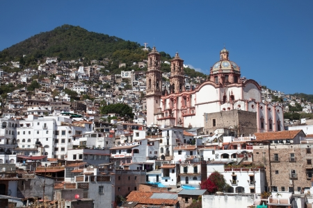 mexico city: Taxco is a small city located in the Mexican state of Guerrero  The city is heavily associated with silver, and this reputation, along with the city�s picturesque homes and surrounding landscapes have made tourism the main economic activity