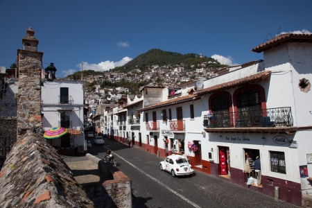 Taxco is a small city located in the Mexican state of Guerrero. The city is heavily associated with silver, and this reputation, along with the city's picturesque homes and surrounding landscapes have made tourism the main economic activity Editorial