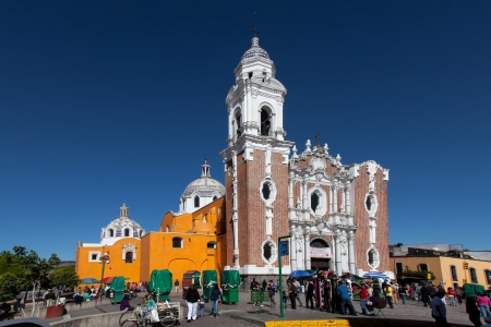 San Jos?arish church in Tlaxcala was constructed during the 18th century in Baroque style.
