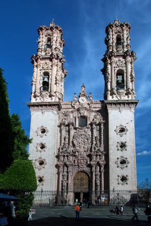 Church of Santa Prisca is a colonial monument is located in the city of Taxco de Alarc?in the northern state of Guerrero, Mexico, built between 1751 and 1758.