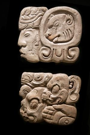 cultura maya: Antiguos jerogl�ficos mayas Foto de archivo