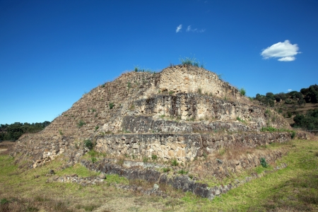 Cacaxtla is an archaeological site located near the southern border of the Mexican state of Tlaxcala  Stock Photo