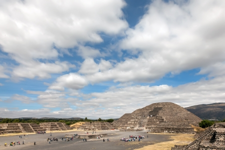 civilisation: Pyramid of the Moon in Teotihuacan, Mexico  Teotihuacan is an enormous archaeological site in the Basin of Mexico, just 30 miles northeast of Mexico City, containing some of the largest pyramidal structures built in the pre-Columbian Americas