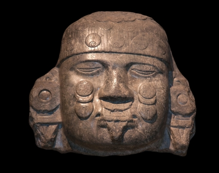 Head of Coyolxauhqui, Mexica-Aztec, Tenochtitlan, Mexico, c  A  D  1500, Diorite