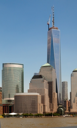 indelible: Freedom Tower and the World Financial Center on June 1st, 2013. One World Trade Center is the Americas tallest building - and an indelible New York landmark.