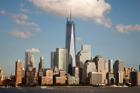 Freedom Tower and the World Financial Center on July 4th, 2013. One World Trade Center is the America Editorial