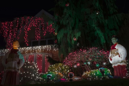 dazzling spectacle of christmas holiday decorations in the neighborhood of dyker heights on december 14 - Christmas Holiday Decorations