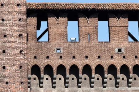 sforzesco: Fragment of the walls of the Castello Sforzesco in Milan