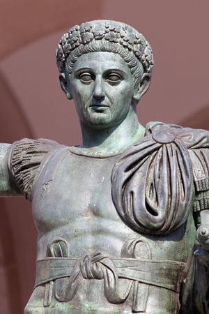 constantine: Bronze statue of the Roman Emperor Constantine who issued the Edict of Milan in AD 313
