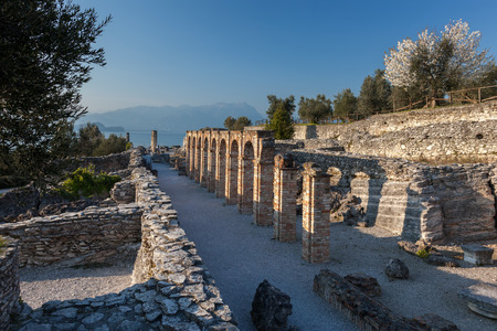 Grottoes of Catullus is the ruins of a Roman villa built in 8754 BC at the northernmost end of the peninsula of Sirmione on the southern shore of Lake Garda