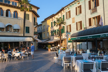 sirmione: Sirmione is one of the most popular sights on Lake Garda with thousands of visitors flooding in each day to view the picturesque peninsula Editorial