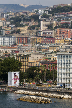 defaced: NAPLES, ITALY - JULY 23 2015:  Posillipo hill, known the world over for its ancient history and lovely scenery, has been defaced by unchecked and unscrupulous development. Editorial