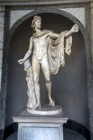 Apollo del Belvedere in the Vatican Museums, a  Roman copy of a Greek statue of the sun god Apollo, perfectly embodies the ideals of Classical beauty.