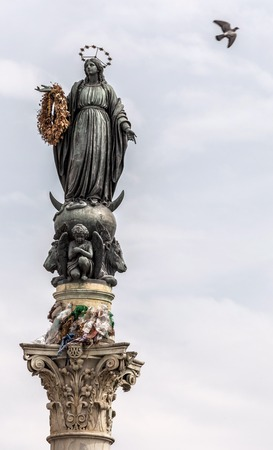 pius: Colonna dellImmacolata, a Roman column supporting a statue of the Virgin Mary was inaugurated in 1857 and commemorates Pope Pius IXs proclamation of the doctrine of the Immaculate Conception.