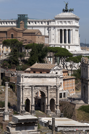 accession: Triumphal Arch of Septimius Severus is one of the best preserved monuments of the Forum, was erected in AD 203 to celebrate the tenth anniversary of his accession.