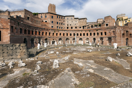 Trajans Market is a large complex of ruins in the city of Rome, Italy. Thought to be the worlds oldest shopping mall, the arcades are now believed to be administrative offices for Emperor Trajan.