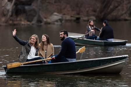 NEW YORK - MARCH 12 2016: Boating on the Lake, Central Parks second largest water body, is a great way to spend an afternoon in the Park.