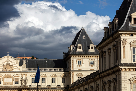 residences: Facade of the Castello del Valentino in Turin, Italy, a 17th century palace, former residences of the Royal House of Savoy. It is included in the list of UNESCO World Heritage Sites in 1997. Editorial