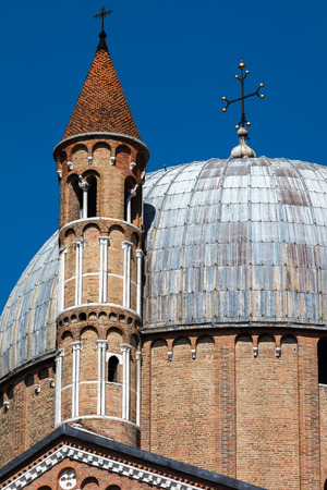 Closeup of the dome and belfry towers of the Basilica of Saint Anthony of Padua built in 1310 in Padua, Italy Stock fotó