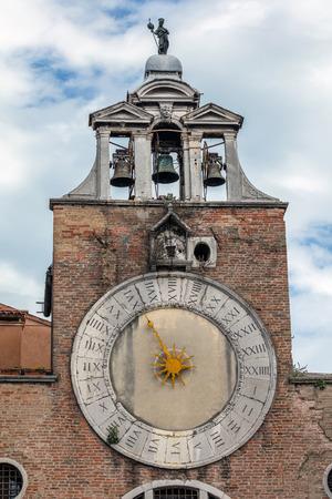 san giacomo: 15th century clock on the belfry of the church San Giacomo di Rialto in Venice, Italy