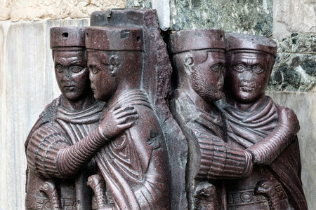 appointed: The Tetrarchs is 4th century porphyry sculpture representing Diocletian, Maximian, Valerian and Constance. Collectively they were the tetrarchs, appointed by Diocletian to help rule the Roman Empire.