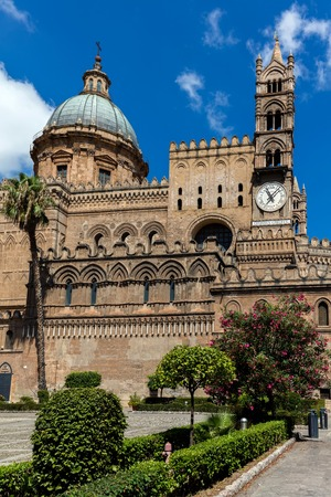 Palermo Cathedral, dedicated to Our Lady of the Assumption, built in 1179-85, characterized by the presence of different styles, due to a long history of additions, alterations and restorations.