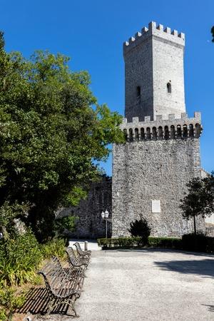 erice: Medieval Balio tower in Erice, Sicily Editorial