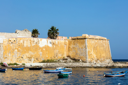 Bastion Conca, 15th century waterfront fortifications in Trapani, Sicily