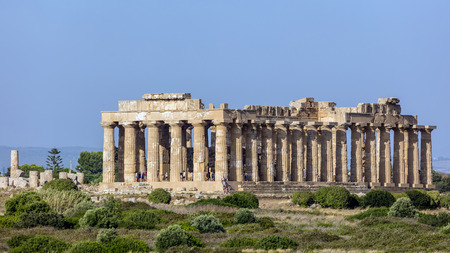 Temple E (490-480 BC) in Selinunte, thought to be dedicated to Hera, considered to be one of the finest examples of Doric architecture in Sicily.