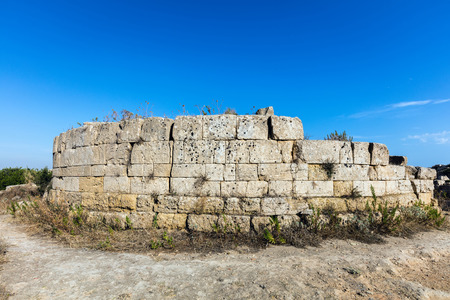 archaeological sites: Walls of the ancient Sicilian town of Selinunte, one of the most striking archaeological sites in Sicily.