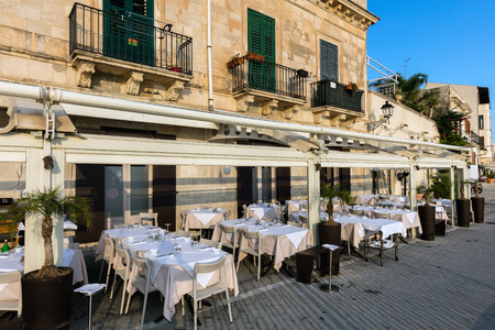 ortigia: The streets of the island of Ortigia, the historical heart of Syracuse, are lined with restaurants and offer many options for fine dining. Editorial