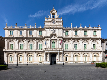 catania: The Palazzo dellUniversita in Catania, Sicily, Italy held the first four faculties of the University of Catania since 1690s.