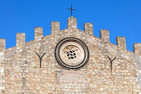 Taormina Cathedral in Taormina, Sicily, Italy, originated in the 13th century Stock Photo