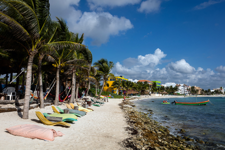Akumal beach. Akumal is a small beach-front tourist resort community in Quintana Roo, Mexico, between the towns of Playa del Carmen and Tulum.