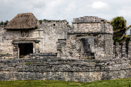 Ancient Mayan house of the Halach Uinic (high-priest) in Tulum, Quintana Roo, Mexico