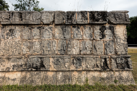 supposedly: Platform of the Skulls in Chichen Itza, a.k.a. Tzompantli, was supposedly used to memorialize past victims as well as to display the heads of sacrificial victims or enemies that had died in battle.