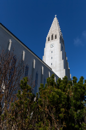 Hallgrimskirkja, a Lutheran parish church, named after the Icelandic poet and clergyman Hallgrimur Petursson, commissioned in 1937, completed in 1940.