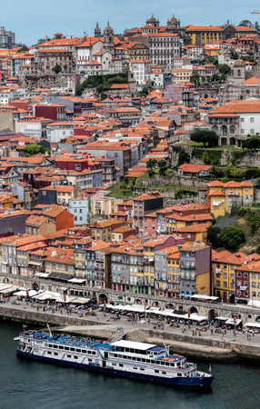 View of Porto and the Douro River from the Dom Luis I Bridge